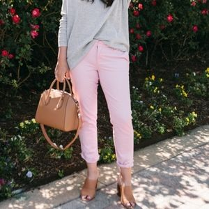 Loft Spring Pink Girlfriend Chino Pants Slacks 10